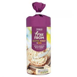 Tesco Free From Wholegrain Rice Cakes 130g