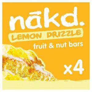 Nakd Lemon Drizzle Bars 4X35g