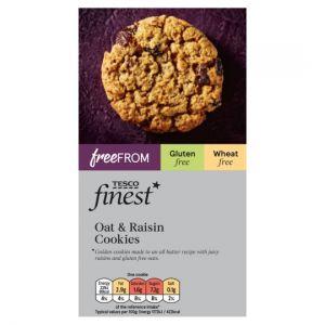 Tesco Finest Free From Oat & Raisin Cookies 150g