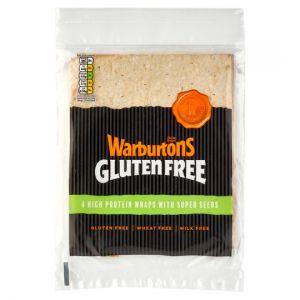 Warburtons Protein Wraps Gluten Free 4 Pack 224g