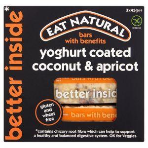 Eat Natural Bars Coconut, Apricot Yogurt 3 Pack 45g