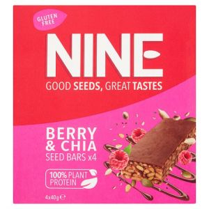 Nine Super Seeds Carob Raspberry Chia 4X40g
