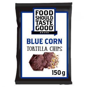 Food Should Taste Good Tortilla Chips Blue Corn 150g