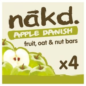 Nakd Apple Danish Bar 4X30g Mpk