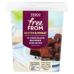 Tesco Free From 12 Chocolate Mini Brownies Bites