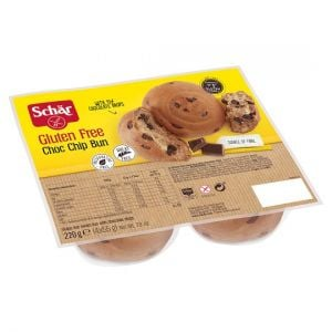 Schar Chocolate Chip Bun 220g (4 X 55g)