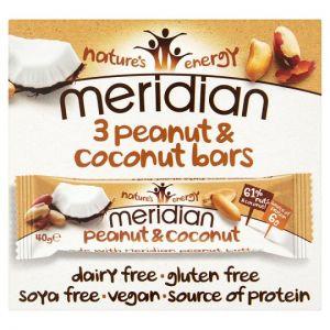 Meridian Peanut Coconut Bar 3Pack 40g