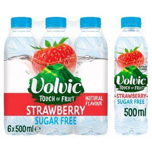 Volvic Strawberry Sugar Free Water 6X50cl