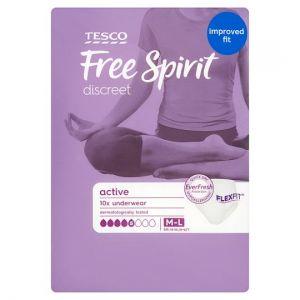 Tesco Free Spirit Active Underwear Medium / Large 10 Pack