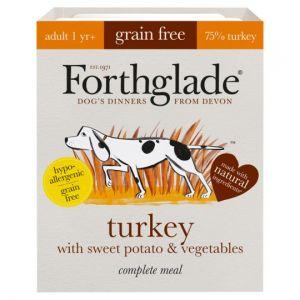 Forthglade Grain Free Turkey & Vegetable Dog Tray 395g
