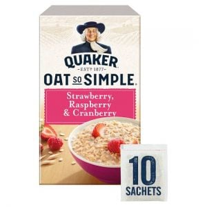 Quaker Oat So Simple Strawberry Raspberry Porridge 10 X 33.9g