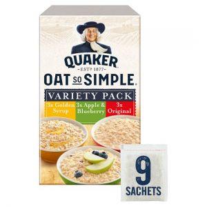 Quaker Oat So Simple Variety Pack Porridge 9 Pack 297g