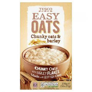 Tesco Easy Oats Chunky Oats Barley Porridge 10 X27g