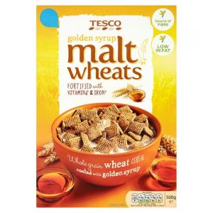 Tesco Malt Wheats Golden Syrup Cereal 500g