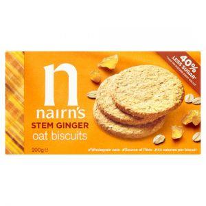 Nairns Stem Ginger Oat Biscuit 200g (L)