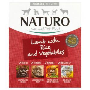 Naturo Adult Lamb & Rice Vegetable Dog Food Tray 400g