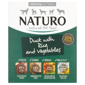 Naturo Adult Duck & Rice Vegetable Dog Food Tray 400g