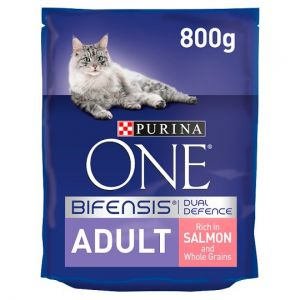 Purina One Cat Adult Salmon & Whole Grain 800g
