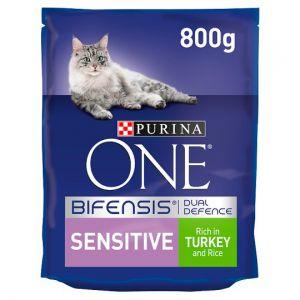 Purina One Cat Sensitive With Turkey & Rice 800g