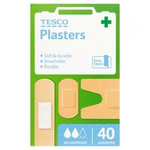Tesco Health Washproof Plasters Assorted 40