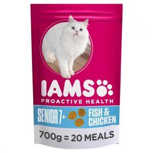 Iams Senior Ocean Fish Dry Cat Food 700g