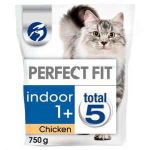 Perfect Fit 1+ Chicken Dry Indoor Cat Food 750g