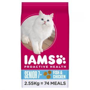 Iams Senior Ocean Fish Dry Cat Food 2.55kg