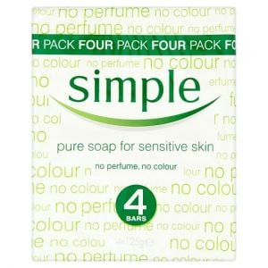 Simple Pure Bar Soap 4 X125g