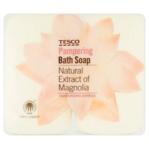 Tesco Pampering Bath Soap Magnolia 4X125g