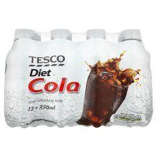 Tesco Diet Cola 12X250ml