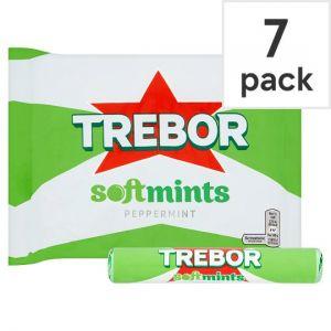 Trebor Softmints Peppermint Mints 7 Pack 314g