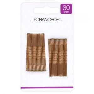 Leo Bancroft Hair Grips Brown 30 Pack