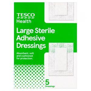 Tesco Health Sterile Dressing Large 5 Pack