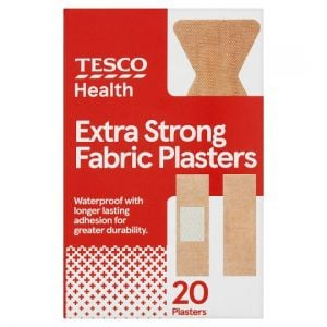 Tesco Health Extra Strong Fabric Plaster 20 Pack