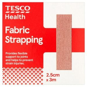 Tesco Health Fabric Strapping 2.5cm x 3m