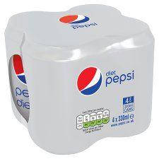 Pepsi Diet 330ml 4 Pack