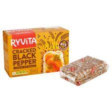 Ryvita Cracked Black Pepper Crisp Bread 5X40g