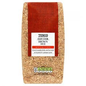 Tesco Easy Cook Brown Rice 1kg
