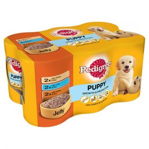 Pedigree Can Cuts In Jelly Tinned Puppy Food 6 X400g