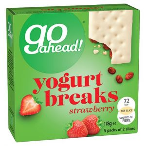 Go Ahead Strawberry Yogurt Breaks Cereal Bars 5 Pack 177g