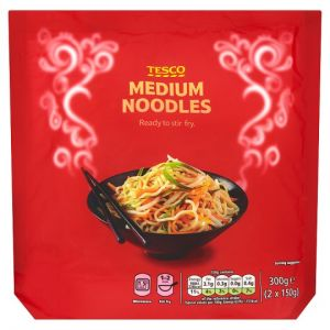Tesco Straight To Wok Medium Noodles 300g