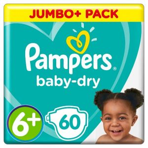 Pampers Baby Size 6+ Jmb+ Pack 60 Nappies