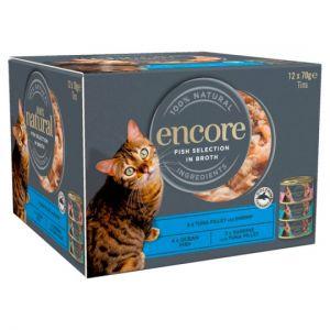 Encore Cat Food Fish Selection Tins 12X70g