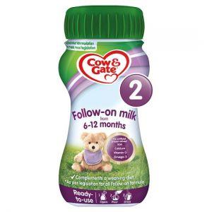 Cow & Gate 2 Follow On Milk 200ml Ready To Feed Liquid