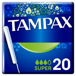 Tampax Super Tampons Applicator 20 Pack