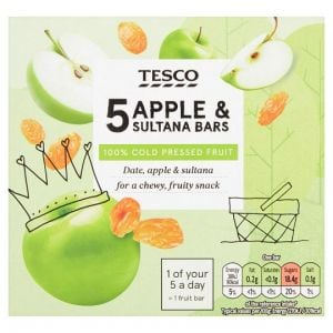 Tesco Apple and Sultana Bars 5 X 30g