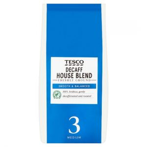 Tesco House Decaffeinated Ground Coffee 227g