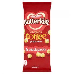Butterkist Toffee Popcorn 6X20g