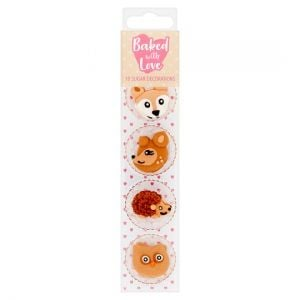 Baked With Love 10 Pack Decorations Woodland Animals