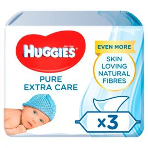 Huggies Baby Wipes Pure Extra Care 56 X 3 Pack